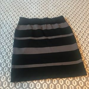 Black and grey skirt